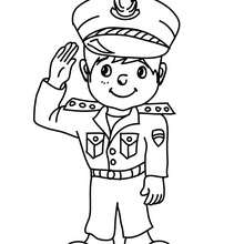Dibujo para colorear : Uniforme policial