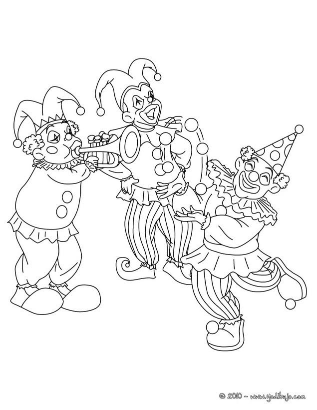 Payaso : Dibujos para Colorear, Juegos Gratuitos, Dibujo para Niños ...