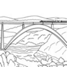 ferrocarril, Dibujos para colorear e imprimir gratis TRENES