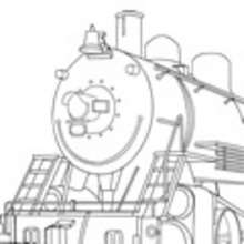 ferrocarril, Dibujos LOCOMOTORA DE VAPOR para colorear