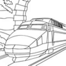 Dibujo del nuevo TREN AVE para colorear