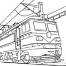 ferrocarril, Dibujo TREN ELECTRICO para colorear