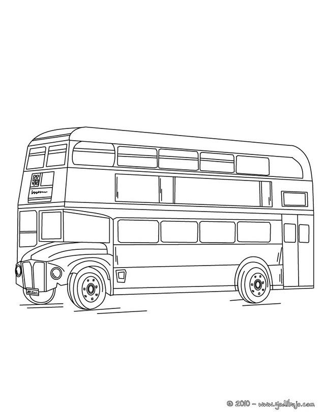 Dibujos para colorear de AUTOBUSES - 16 dibujos de autobus para ...