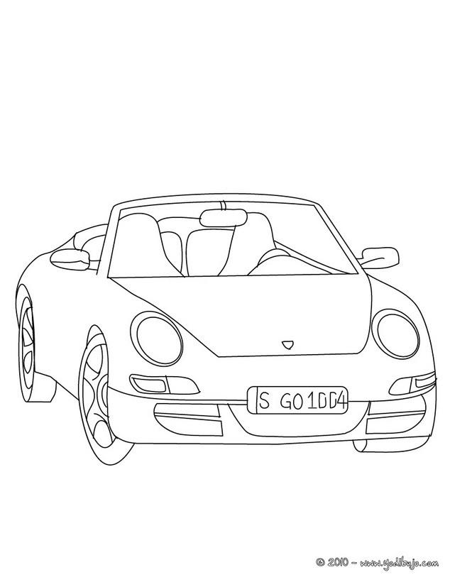 Dibujos para colorear coche porsche 911 - es.hellokids.com