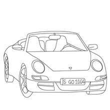 Dibujo para colorear coche PORSCHE 911 - Dibujos para Colorear y Pintar - Dibujos para colorear VEHICULOS - Dibujos para colorear COCHES - Dibujos para colorear COCHES DEPORTIVOS
