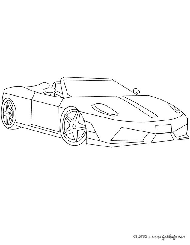 Dibujos para colorear ferrari scuderia - es.hellokids.com