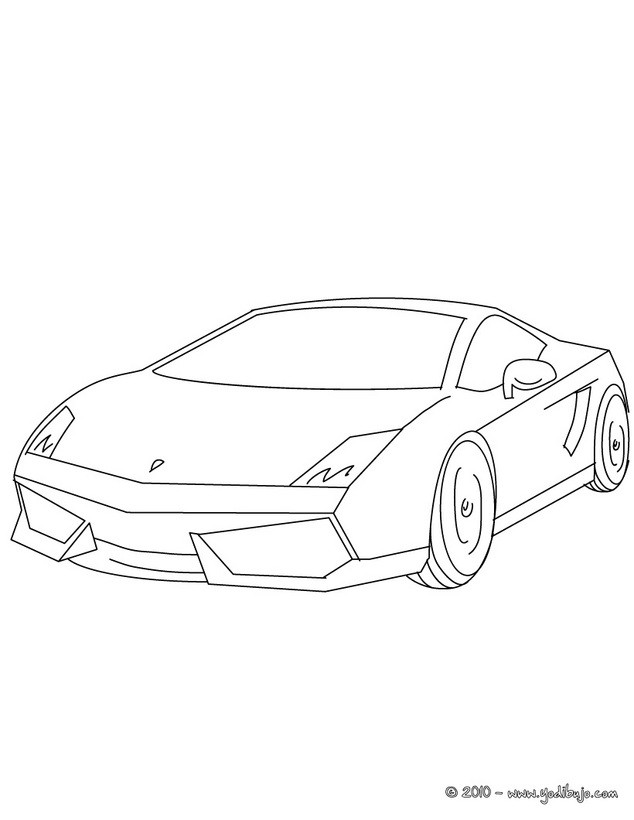 Dibujos para colorear un coche lamborghini gallardo - es.hellokids.com