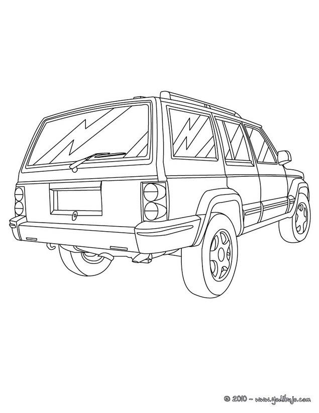 Dibujos Para Colorear Todoterreno 4x4 Es Hellokids Com