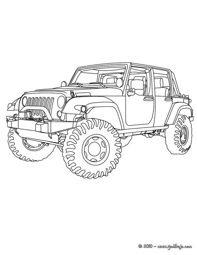 Dibujos para colorear todoterreno 4x4 - es.hellokids.com