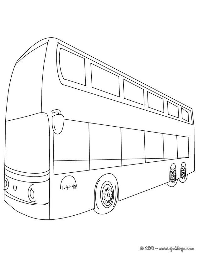 Dibujos para colorear autobus ingles - es.hellokids.com
