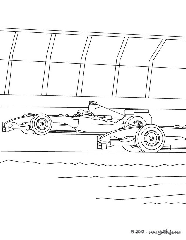 Dibujo para colorear : carrera de coches de FORMULA 1