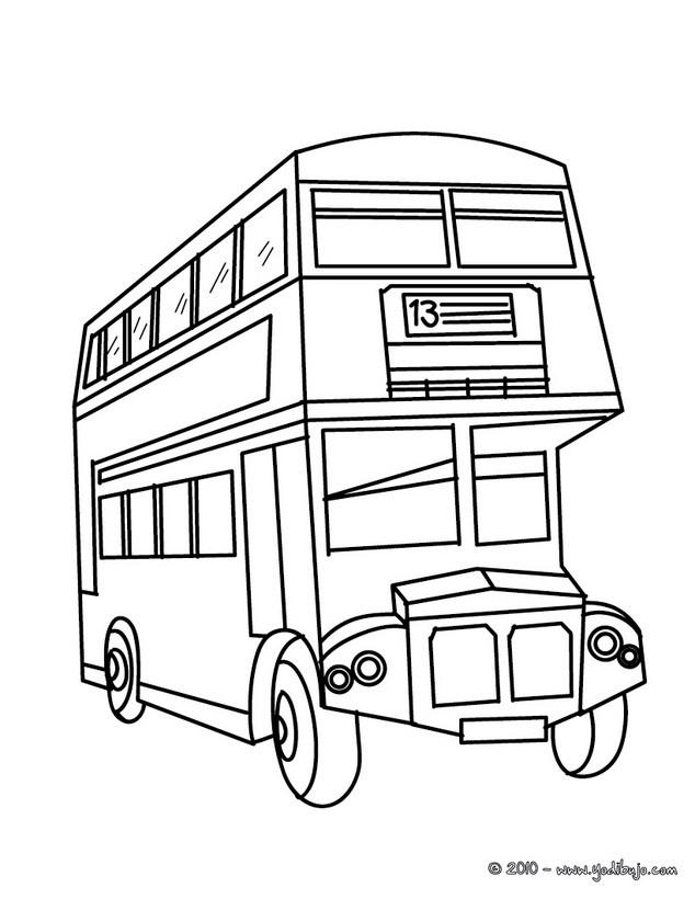 Dibujos para colorear autobus londinense - es.hellokids.com