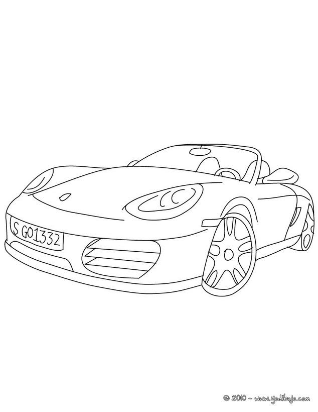 Dibujos para colorear COCHES DEPORTIVOS - 16 dibujos de coches para ...