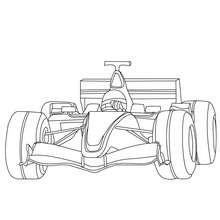 Dibujo para colorear Formula 1 - Dibujos para Colorear y Pintar - Dibujos para colorear VEHICULOS - Dibujos para colorear COCHES - Dibujos para colorear COCHES DE CARRERA