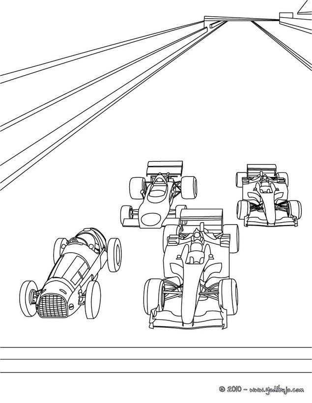 Dibujos para colorear COCHES DE CARRERA - 9 dibujos de coches para ...