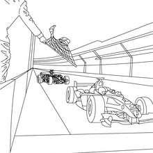 Dibujo de carrera de coches de Formula 1 - Dibujos para Colorear y Pintar - Dibujos para colorear VEHICULOS - Dibujos para colorear COCHES - Dibujos para colorear COCHES DE CARRERA