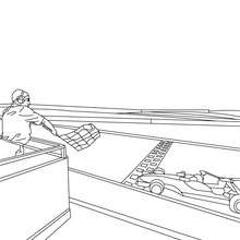 Dibujo para colorear LINEA DE LLEGADA FORMULA 1 - Dibujos para Colorear y Pintar - Dibujos para colorear VEHICULOS - Dibujos para colorear COCHES - Dibujos para colorear COCHES DE CARRERA