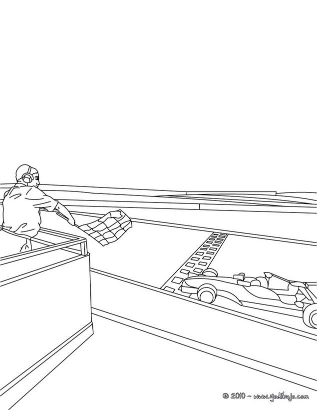 Dibujos Para Colorear Coches De Carrera 9 Dibujos De