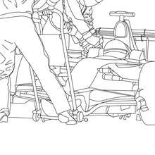 Dibujo para colorear FORMULA 1 CON MECANICOS - Dibujos para Colorear y Pintar - Dibujos para colorear VEHICULOS - Dibujos para colorear COCHES - Dibujos para colorear COCHES DE CARRERA