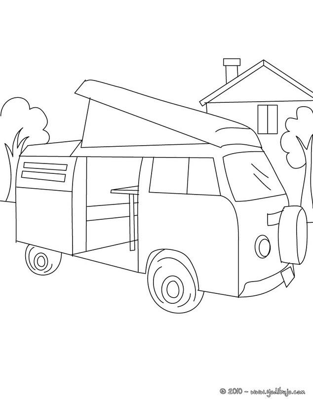 Dibujos para colorear autobus de linea - es.hellokids.com