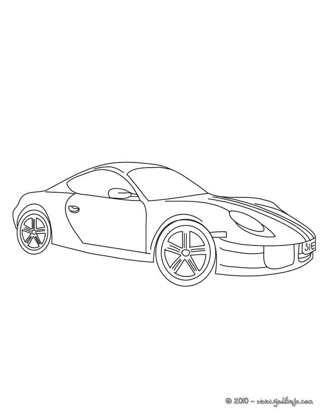 Dibujos para colorear porsche cayman - es.hellokids.com