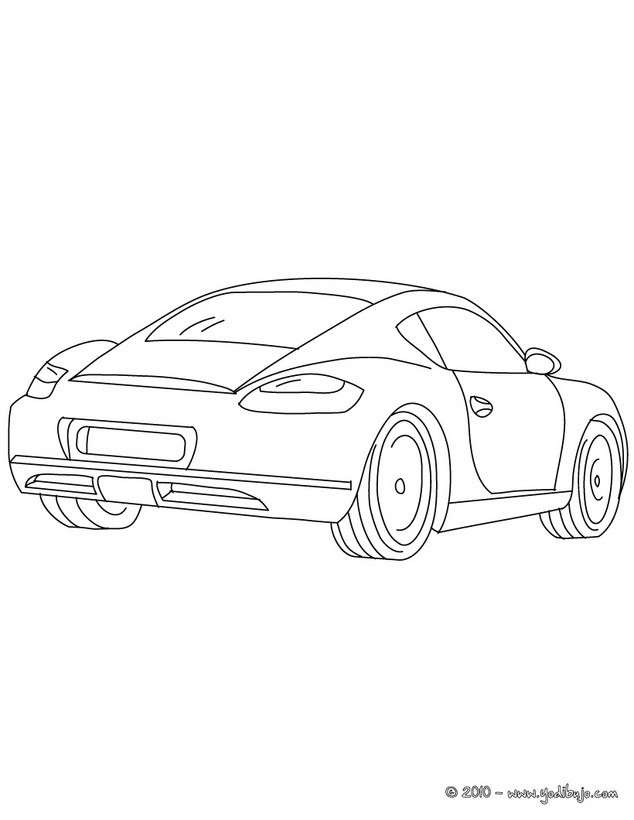 Dibujos para colorear lamborghini murcielago - es.hellokids.com