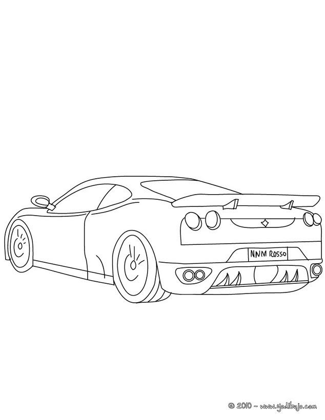 Dibujos para colorear ferrari f430 - es.hellokids.com