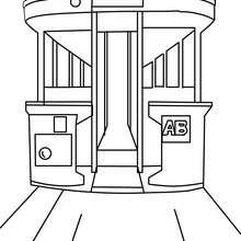 Dibujo para colorear VIEJO AUTOBUS - Dibujos para Colorear y Pintar - Dibujos para colorear MEDIOS DE TRANSPORTE - Dibujos para colorear de AUTOBUSES