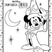 Dibujo para colorear : Mickey el mago