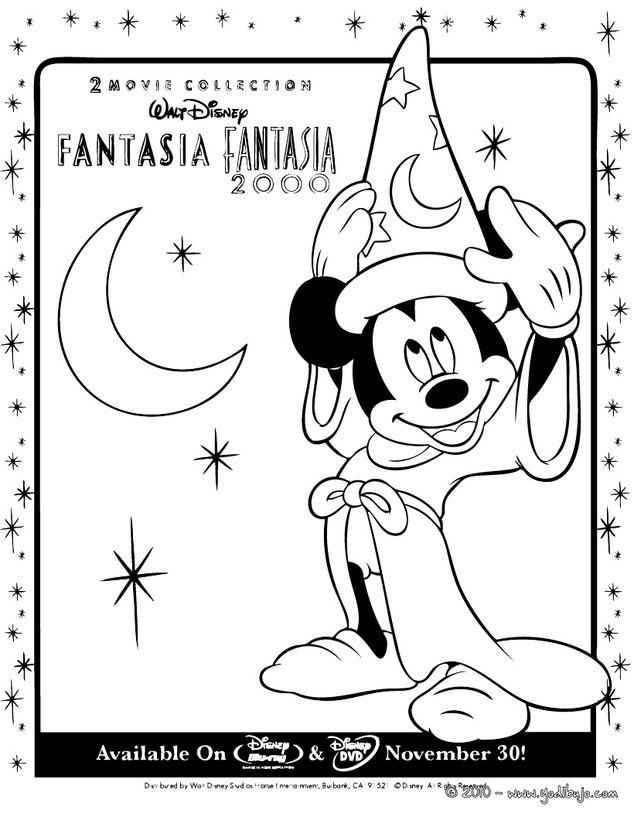 Dibujos para colorear mickey el mago - es.hellokids.com