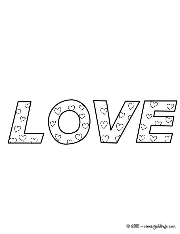 Dibujos para colorear te amo - es.hellokids.com