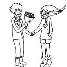 Dibujo para colorear : Declaración de amor