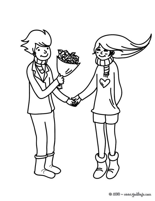 Dibujos Para Colorear Declaracion De Amor Es Hellokids Com