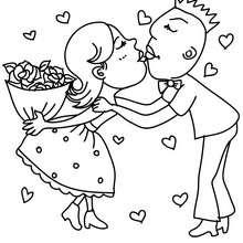 Dibujo para colorear : Los enamorados