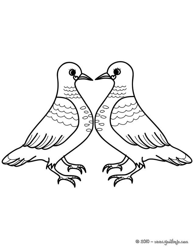 Dibujos para colorear corona de corazones voladores - es.hellokids.com