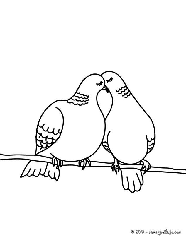 Dibujos para colorear conejos enamorados - es.hellokids.com