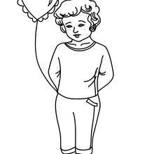 Dibujo para colorear NIÑA ENAMORADA - Dibujos para Colorear y Pintar - Dibujos para colorear FIESTAS - Dibujos para colorear SAN VALENTIN - Dibujo para colorear SAN VALENTIN gratis