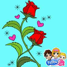 Rompecabezas  : Rosas rojas