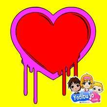 Puzzle en línea : Corazón rojo graffiti