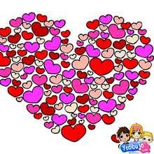 Puzzle en línea : Corazón y corazones