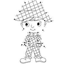 Disfraz arlequin unir puntos - Juegos divertidos - Juegos de UNIR PUNTOS - Juegos de puntos CARNAVAL