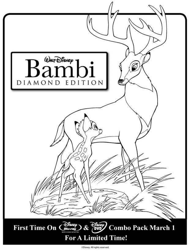 Dibujo para colorear : papa de Bambi