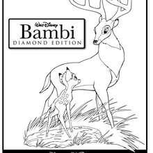 Dibujo del papa de Bambi para colorear - Dibujos para Colorear y Pintar - Dibujos DISNEY para colorear - Dibujos para colorear ANIMALES DISNEY - Dibujos para colorear BAMBI