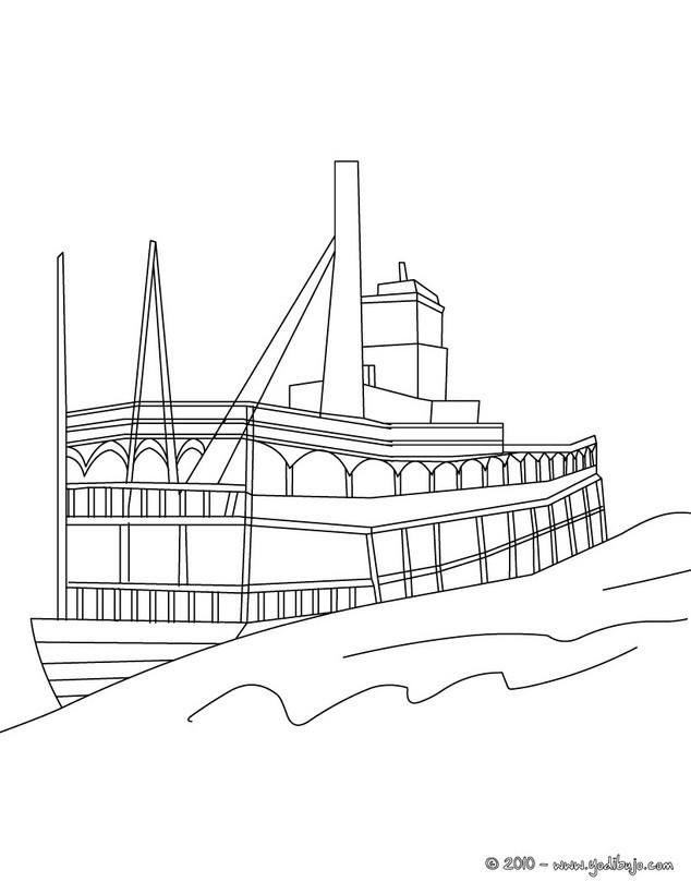 Dibujos para colorear barca de pesca - es.hellokids.com