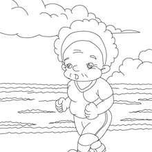 Dibujo para colorear : Abuela deportista