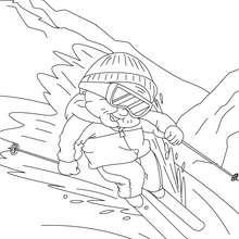Dibujo para colorear abuel esquiadora - Dibujos para Colorear y Pintar - Dibujos para colorear FIESTAS - Dibujos para colorear DIA DE LA ABUELA