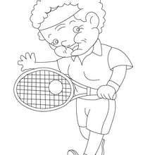 Dibujo para colorear abuela jugadora de tenis - Dibujos para Colorear y Pintar - Dibujos para colorear FIESTAS - Dibujos para colorear DIA DE LA ABUELA