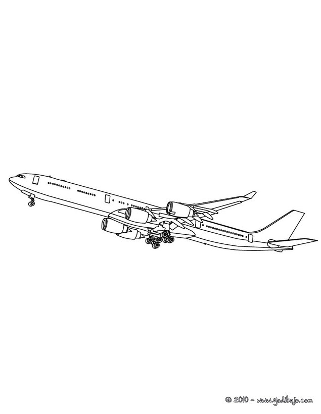 Dibujos para colorear avion de guerra - es.hellokids.com