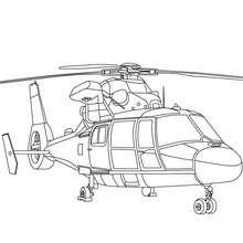 Dibujo para colorear : helicoptero militar