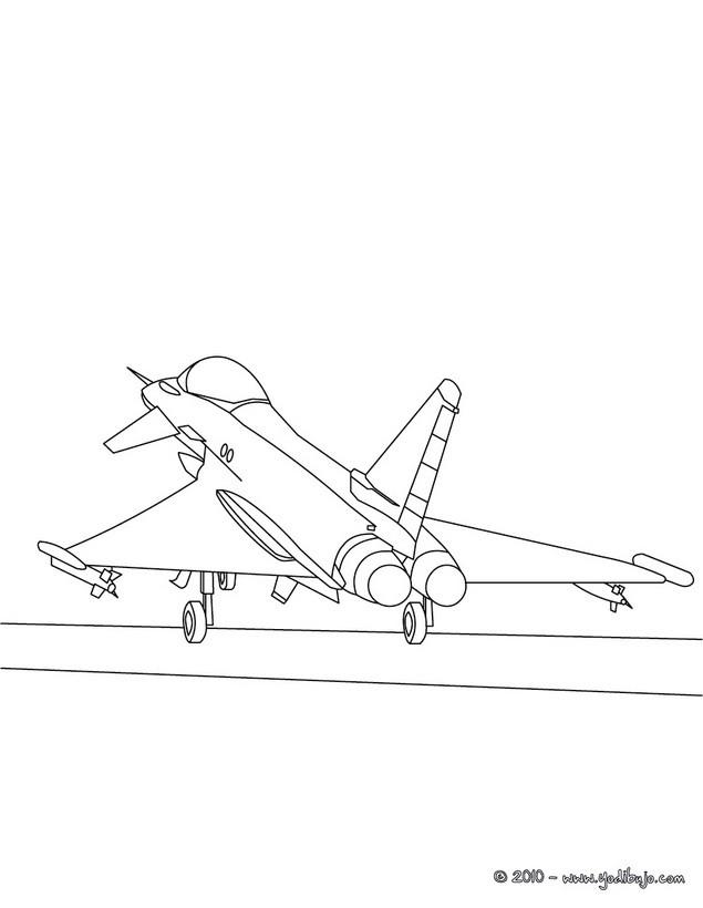 Dibujo para colorear : avion a reacción